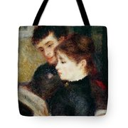 Couple Reading Tote Bag by Pierre Auguste Renoir