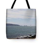 Couple Relaxing  Enjoying The View Tote Bag