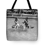 Couple Relaxing In Pool, C.1930-40s Tote Bag