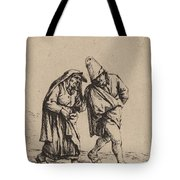 Couple Walking Tote Bag