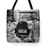 Couple With Their Peerless Car Tote Bag
