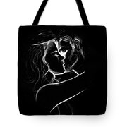 Couples Embrace Tote Bag