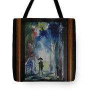 Couples Walking In A Village Tote Bag