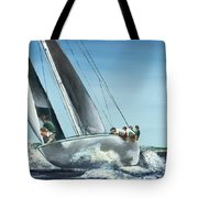 Courageous Riding The Rail Tote Bag