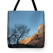 Court Of The Patriarchs Sunrise Zion National Park Tote Bag