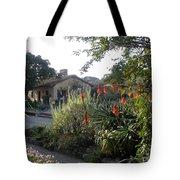 Court Yard At Mission Carmel Tote Bag