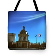 Courthouse And Flags Tote Bag