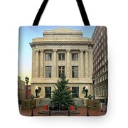Courthouse At Christmas Tote Bag