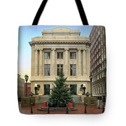 Courthouse At Christmas Tote Bag