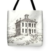 Courthouse Belmont Ghost Town Nevada Tote Bag