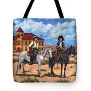 Courthouse Cowboys Tote Bag