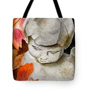 Courtyard Cherub Tote Bag