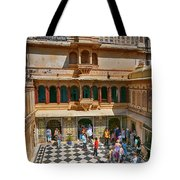 Courtyard, City Palace, Udaipur Tote Bag