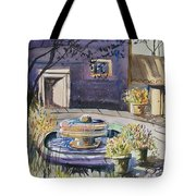 Courtyard In The Morning Tote Bag