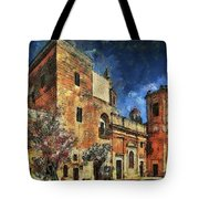 Courtyard, Mellieha, Malta Tote Bag