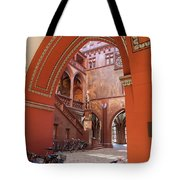 Courtyard Of Basel Town Hall Tote Bag