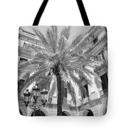Courtyard Palm Tote Bag