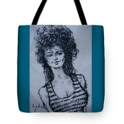 Cove Girl With Striped Shirt Tote Bag