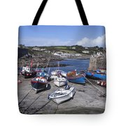 Coverack Harbour Cornwall Tote Bag