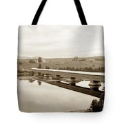 Very Long Covered Bridge Over A River Tote Bag