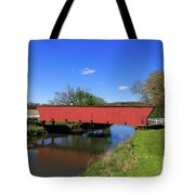 Covered Bridge And Reflection Tote Bag