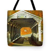 Covered Bridge Impasto Oil Tote Bag