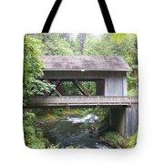 Covered Bridge Of Cedar Creek Tote Bag