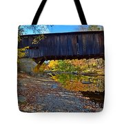 Covered Bridge Over The Cold River Tote Bag