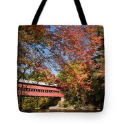 Covered Bridge Over The Swift River In Conway Tote Bag