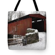 Covered Bridge Over The Wissahickon Creek Tote Bag by Bill Cannon