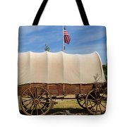 Covered Wagon At Fort Bluff Tote Bag