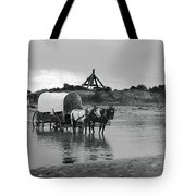Covered Wagon River Ford And Cable Ferry 1903 Tote Bag