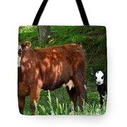Cow And Calf Tote Bag