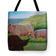 Cow And Calf Painting Tote Bag