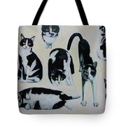 Cow Cats Tote Bag