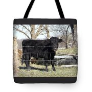 Cow Eating  Tote Bag