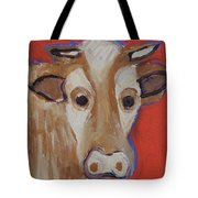 Cow Face Tote Bag