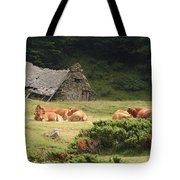Cow Family Pastoral Tote Bag
