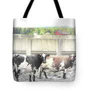 In The Future We Will Have No Cow Fence  Tote Bag