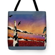 Cow Fence Tote Bag
