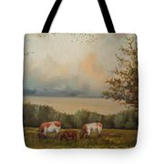 Cow Field Tote Bag