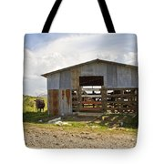 Cow In The Pasture Tote Bag