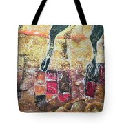 Cow Legs On Carpets Tote Bag