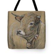 Cow Portrait Painting Tote Bag