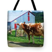 Cow Sheep And Bicycle Tote Bag