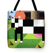 Cow Squared With Barn Big Tote Bag