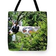 Cow Statue Tote Bag