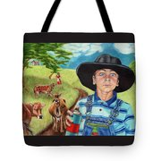 Cow Tagging Tote Bag