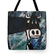 Cow With A Pearl Earring Tote Bag
