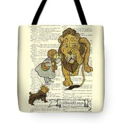 Cowardly Lion, The Wizard Of Oz Scene Tote Bag